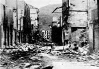 Éibar fue destruida por los incendios provocados por los milicianos separatistas en su huida