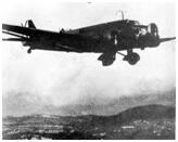 Junker Ju-52 en misión de bombardeo