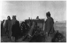 Pieza de una batería de Artillería nacional